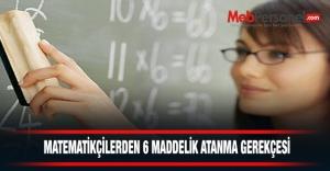 Matematikçilerden 6 Maddelik Atanma Gerekçesi