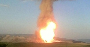 Doğalgaz Boru Hattı#039;nda patlama