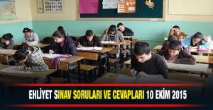 10 Ekim Ehliyet Sınav Soru ve Cevapları