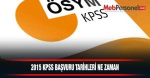 2015 KPSS Başvuru Tarihleri...