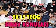 2015 TEOG SINAV KONULARI