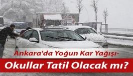 Ankara'da Yoğun Kar Yağışı-...