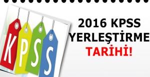 2016 KPSS Yerleştirme Takvimi