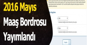 2016 Mayıs Maaş Bordrosu Yayımlandı