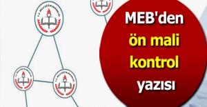 MEB#039;den ön mali kontrol yazısı