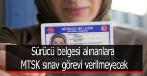 Sürücü belgesi alınanlara MTSK...