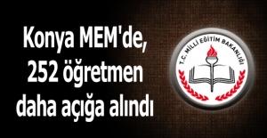 Konya MEM'de, 252 öğretmen daha açığa alındı