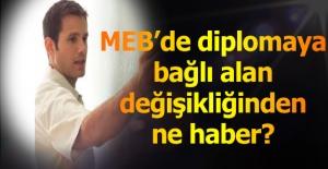 MEB, Alan Değişikliği Konusunda...