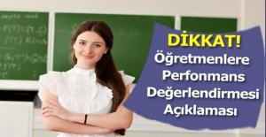 MEB Müsteşarı Yusuf Tekin'den Öğretmenlere Perfonmans Değerlendirmesi Açıklaması