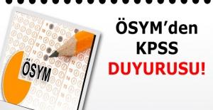 ÖSYM#039;den Son Dakika KPSS Duyurusu