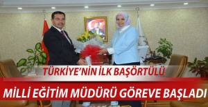 Türkiye#039;nin ilk başörtülü...