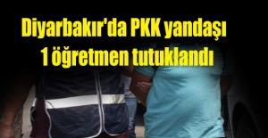 Diyarbakır'da PKK yandaşı  1 öğretmen tutuklandı
