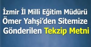 İzmir İl Milli Eğitim Müdürü...