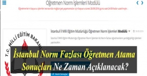 İstanbul Norm Fazlası Öğretmen Atama Sonuçları Ne Zaman Açıklanacak?