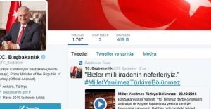 Başbakanlıktan '15 Temmuz' tweeti