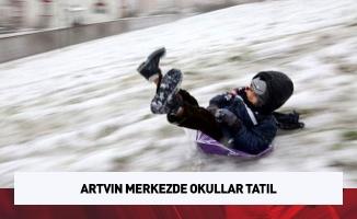 Artvin merkezde okullar tatil
