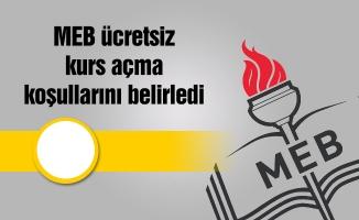 MEB ücretsiz kurs açma koşullarını belirledi