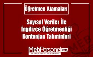 İngilizce ÖğretmenliğiTahmini Atama Kontenjanı
