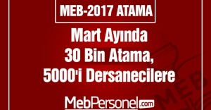 Mart Ayında 30 Bin Atama, 5000#039;i...