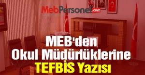 MEB#039;den Okul Müdürlüklerine...
