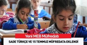 Okullarda Türkçe sade olacak