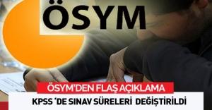 ÖSYM'den Açıklama: KPSS'de Sınav Süreleri Değiştirildi
