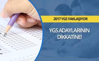 2017 YGS Adaylarının Dikkatine!