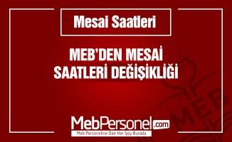 MEB'den Okullardaki Personellerin Mesai Saatlerine Düzenleme
