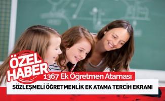Sözleşmeli Öğretmenlik Ek Atama Tercih Ekranı
