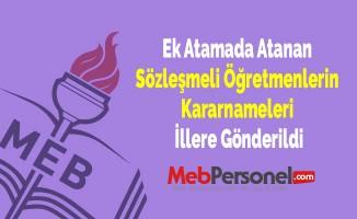 Ek Atamada Atanan Sözleşmeli Öğretmenlerin Kararnameleri İllere Gönderildi