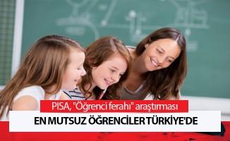 En mutsuz öğrenciler Türkiye'de