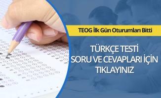 MEB 2017 2. Dönem TEOG Türkçe Soru ve Cevapları