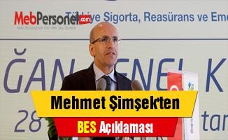 Mehmet Şimşek'ten ''BES'' Açıklaması