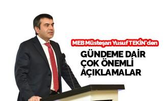 Müsteşar Yusuf Tekin'den 'Merkezi Ortak Sınav' Açıklaması