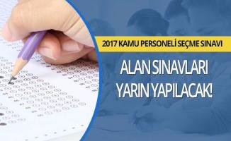 2017 KPSS Alan Sınavları Yarın Yapılacak!