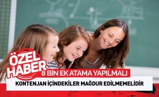 Ek Öğretmen Atama Kontenjanı Açılmalıdır