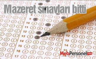 Mazeret sınavları bitti