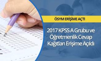 2017-KPSS A Grubu ve Öğretmenlik cevap kağıtları erişime açıldı