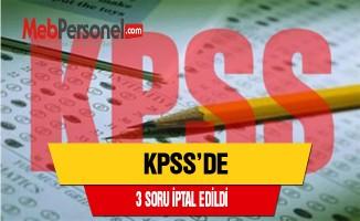 KPSS'de 3 Soru İptal Edildi