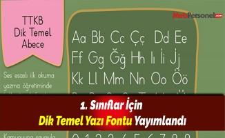 1. Sınıflar İçin Dik Temel Yazı Fontu Yayımlandı