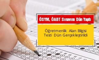 KPSS öğretmenlik sınavı dün  yapıldı