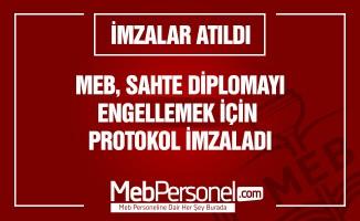MEB, Sahte Diplomayı Önlemek İçin Protokol İmzaladı