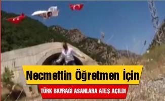 Necmettin öğretmen için Türk bayrağı asan tır şöförüne ateş açıldı