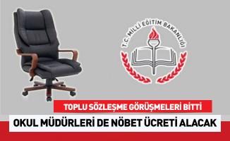 Okul Müdürlerine Nöbet Ücreti Geldi