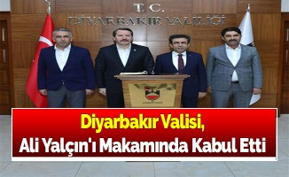 Diyarbakır Valisi, Ali Yalçın'ı Makamında Kabul Etti