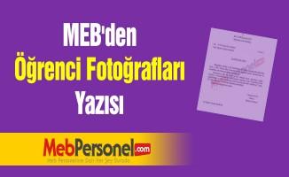 MEB'den ''Öğrenci Fotoğrafları'' Yazısı