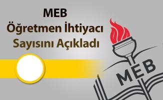 MEB Öğretmen İhtiyacı Sayısını Açıkladı