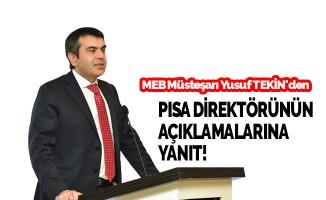 Yusuf Tekin'den PISA Direktörü'nün açıklamalarına yanıt!