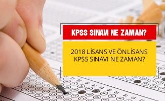 2018 - KPSS önlisans ve lisans sınavı ne zaman?