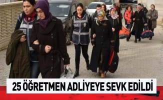Samsun'da 25 öğretmen adliyeye sevk edildi